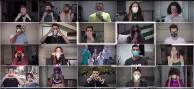 סיכומוזיקלי: כ-40 כוכבים ישראלים התאחדו לשיר משותף . צילום מסך מהקליפ ביוטיוב