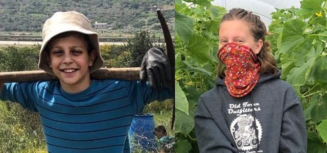 בין החציל לקישוא: האחים שמתנדבים בחקלאות. צילום פרטי