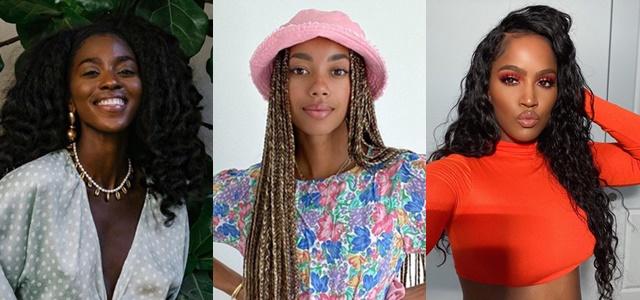לא ממומן: משפיעניות האופנה שנהגו באהבת חינם. צילום מסך מאינסטגרם spiritedpursuit - @amaka.hamelijnck - @makeupshayla@
