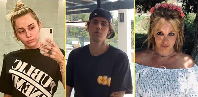 ילדי הפלא שהפכו לבאד בויז של הוליווד. צילומים מתוך אינסטגרם: mileycyrus, justinbieber, britneyspears