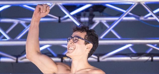 פעם שלישית, שמלא: אלוף הנינג'ה בראיון לקראת הגמר הגדול. עודד קרני, באדיבות קשת 12