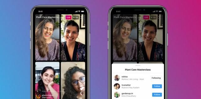 אינסטגרם מעדכנת: שידור לייב של עד ארבעה משתמשים. instagram