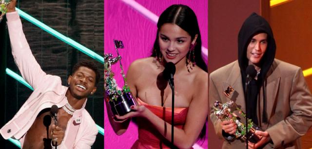 VMA 2021: ג׳סטין ביבר, אוליביה רודריגו וליל נאס קוטפים פרסים. Gettyimages.IL/Michael Loccisano&Bennett Raglin